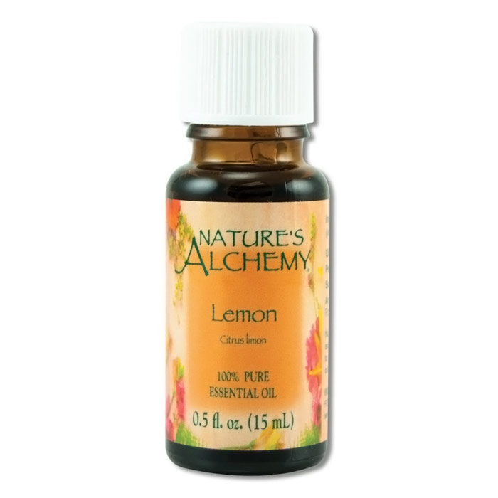 Pure Essential Oil Lemon, 0.5 oz, Nature's Alchemy