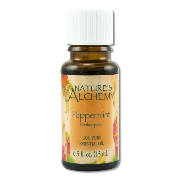 Pure Essential Oil Peppermint, 0.5 oz, Nature's Alchemy