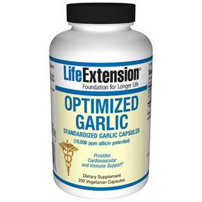 Optimized Garlic, Standardized Garlic Extract, 200 Vegetarian Capsules, Life Extension