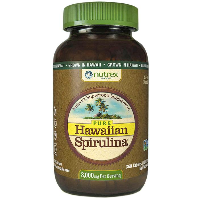 Pure Hawaiian Spirulina, 360 Tablets, Nutrex Hawaii