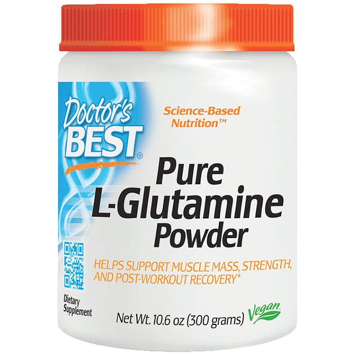 Pure L-Glutamine Powder, 300 g, Doctors Best