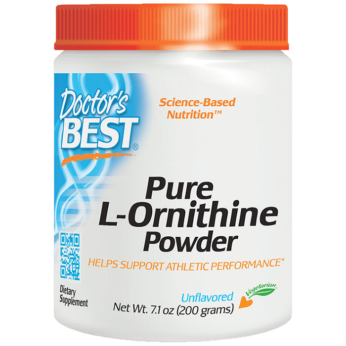 Pure L-Ornithine Powder, 200 g, Doctors Best