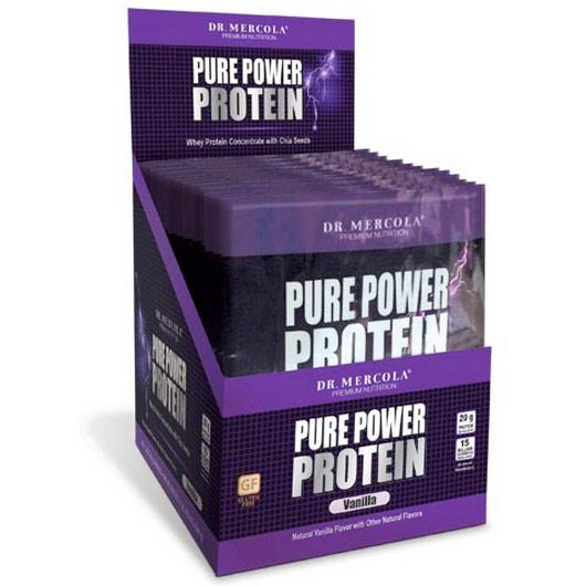 Pure Power Protein Single Serve Box - Vanilla, 14 Packets, Dr. Mercola