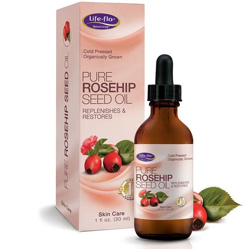 Life-Flo Pure Rosehip Seed Oil Organic, Natural Retinol Acid, 1 oz, LifeFlo