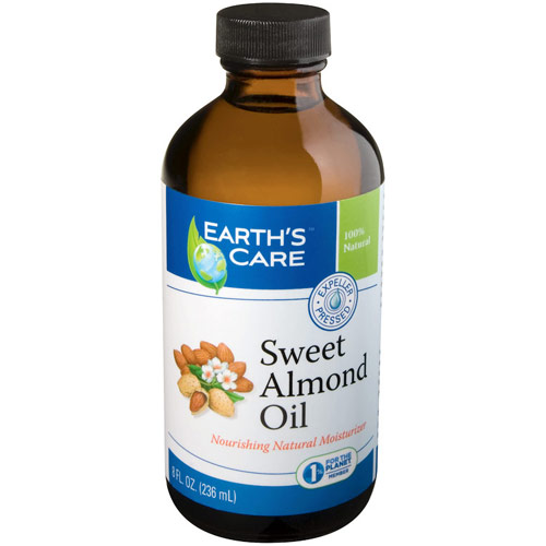 100% Natural & Pure Sweet Almond Oil, 8 oz, Earth's Care