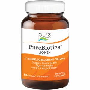 PureBiotics Women, Probiotic Supplement, 60 Vegetarian Capsules, Pure Essence Labs