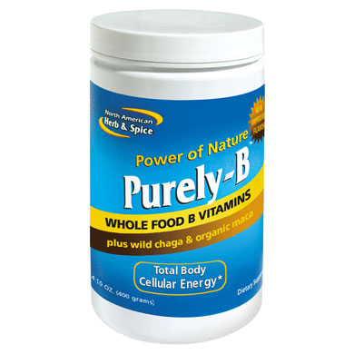 Purely-B, Whole Food B Vitamins Powder, 14.1 oz, North American Herb & Spice