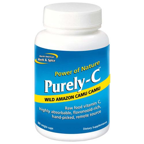Purely-C, Raw Food Vitamin C, 90 Capsules, North American Herb & Spice