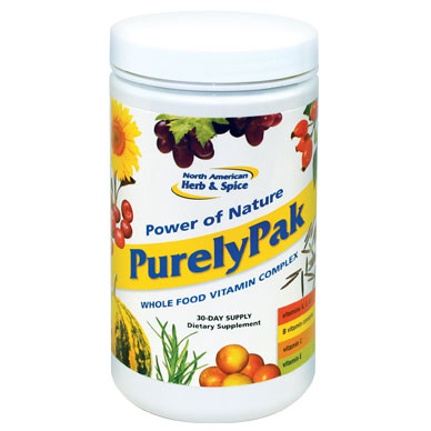 Purely Pak, Whole Food Vitamin Complex, 30-Day Supply, North American Herb & Spice