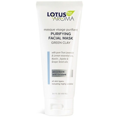 Image of Purifying Facial Mask, Green Clay Mask, 3.4 oz, Lotus Aroma