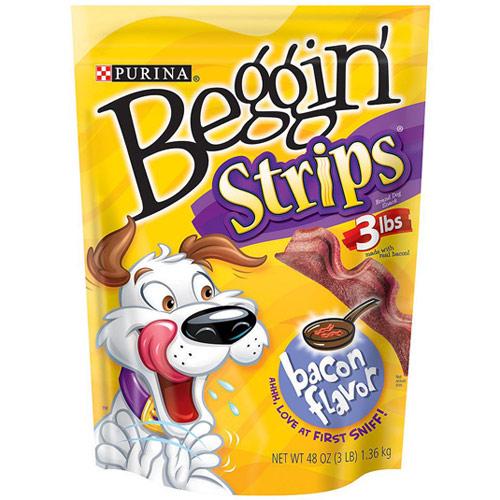Purina Beggin Strips Dog Snack, Bacon Flavor, 48 oz