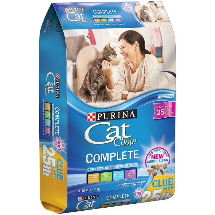 Purina Cat Chow Complete Cat Food, Club Size, 25 lb (11.3 kg)
