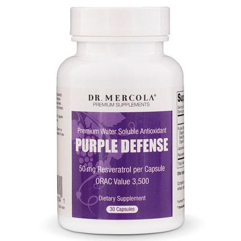 Purple Defense, Premium Water Soluble Antioxidant, 30 Capsules, Dr. Mercola