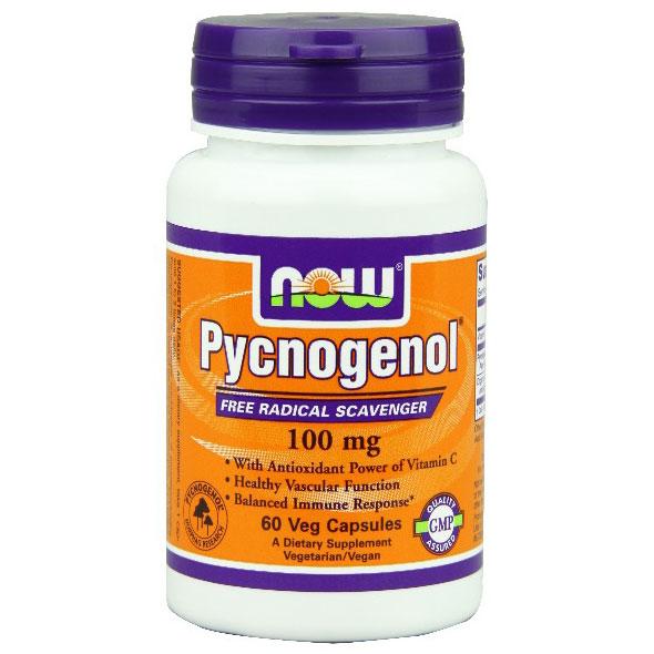 Pycnogenol 100 mg, 60 Vcaps, NOW Foods