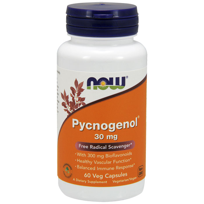 Pycnogenol 30mg 60 Caps, NOW Foods  (Vitamins Supplements - Pycnogenol)