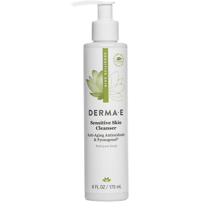 Derma E Sensitive Skin Cleanser with Pycnogenol, 6 oz