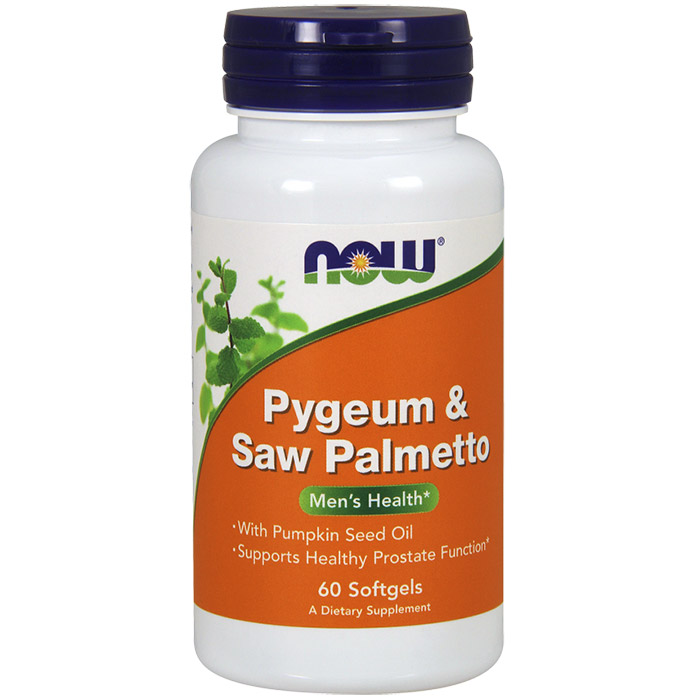 Pygeum & Saw Palmetto, With Pumpkin Seed Oil, 60 Softgels, NOW Foods