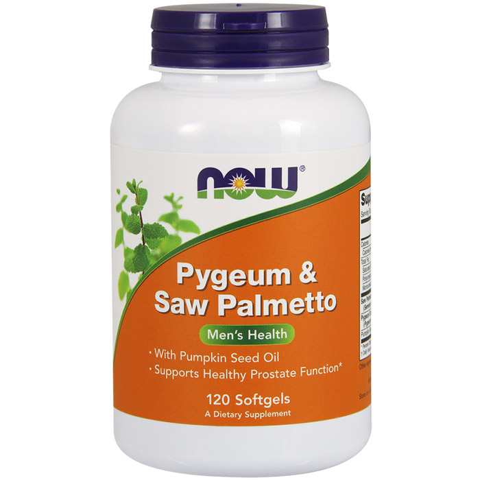 Pygeum & Saw Palmetto, Value Size, 120 Softgels, NOW Foods
