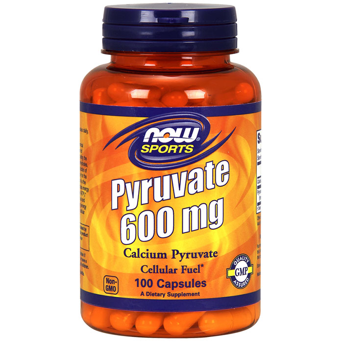 Pyruvate 600 mg, 100 Capsules, NOW Foods
