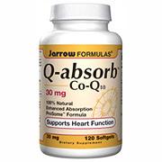 Q-absorb Co-Q10 30 mg, 120 softgels, Jarrow Formulas