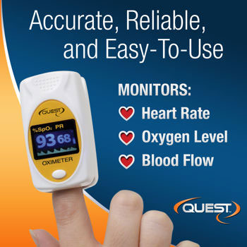 Quest Products 3-In-1 Deluxe Pulse Oximeter