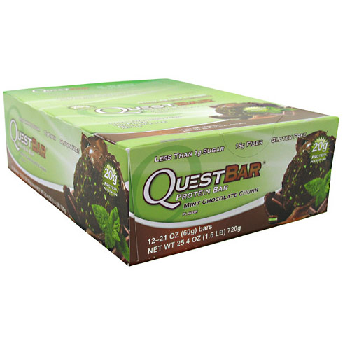 QuestBar Protein Bar, Mint Chocolate Chunk, 12 Bars, Quest Bar