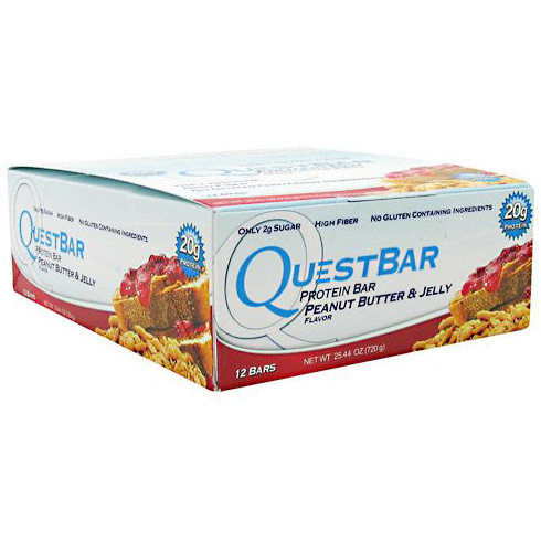 QuestBar Protein Bar, Peanut Butter & Jelly, 12 Bars, Quest Nutrition