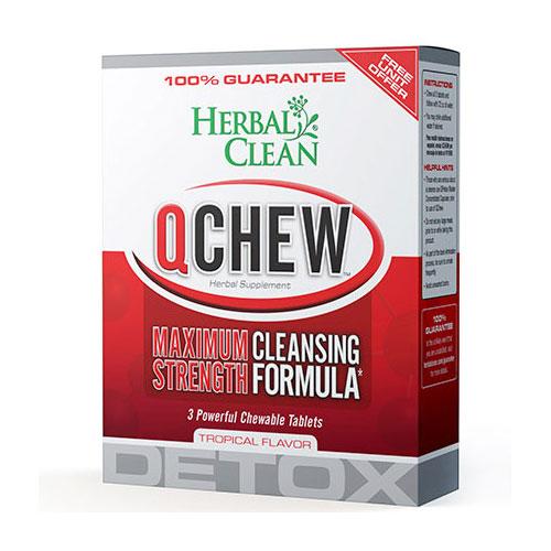 QClean Quick Chew Tropical 1 tablet, Herbal Clean Detox