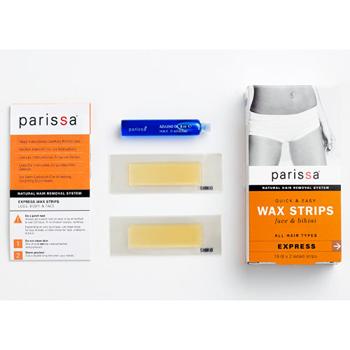 Quick & Easy Wax Strips for Face & Bikini, 16 Strips, Parissa Natural Hair Removal