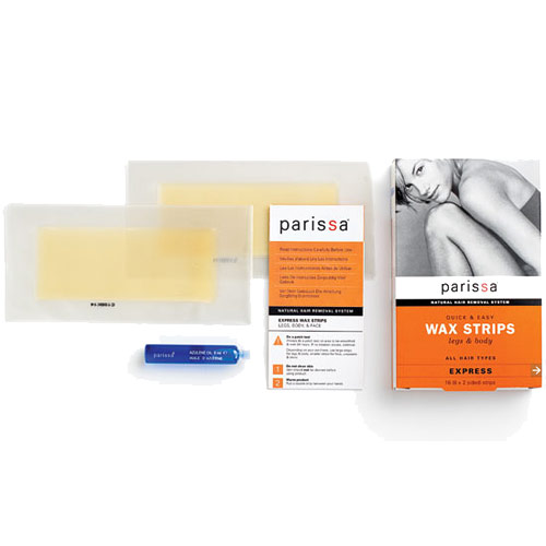 Quick & Easy Wax Strips for Legs & Body, 16 Strips, Parissa Natural Hair Removal