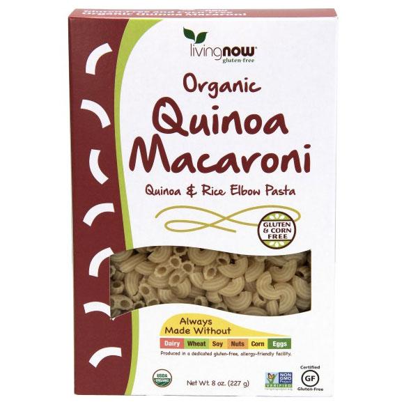 Quinoa Macaroni Organic, Gluten-Free Elbow Pasta, 8 oz, NOW Foods