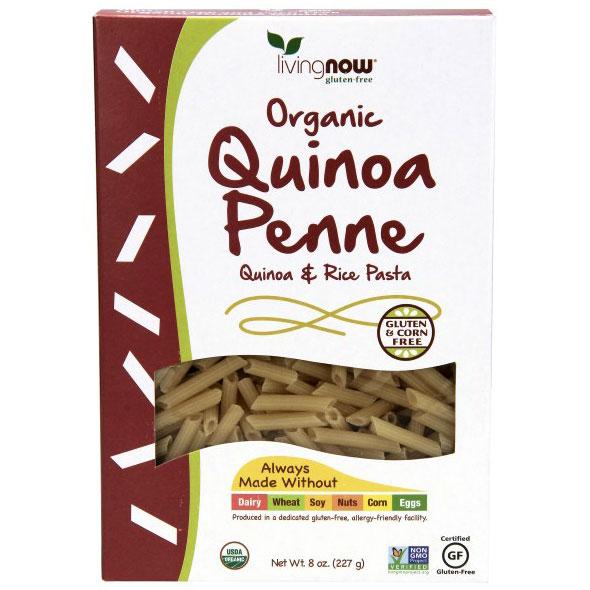 Quinoa Penne, Organic, 8 oz, NOW Foods