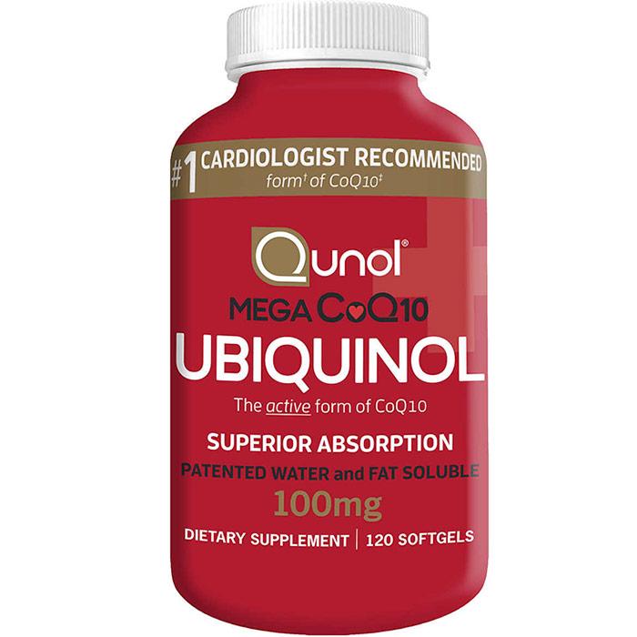 Qunol Mega CoQ10 100 mg, Ubiquinol Active CoQ-10, 120 Softgels