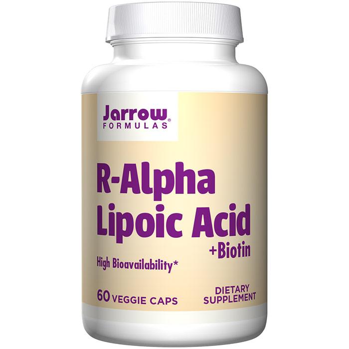 R-Alpha Lipoic Acid + Biotin, 60 Capsules, Jarrow Formulas