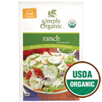 Ranch Salad Dressing Mix, Gluten Free, 1 oz, Simply Organic