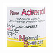 Raw Adrenal, 60 Capsules, Natural Sources