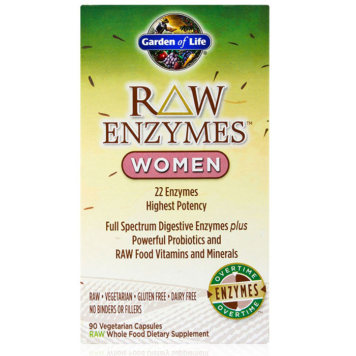 RAW Enzymes for Women, 90 Vegetarian Capsules, Garden of Life