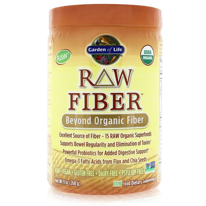 RAW Fiber Powder, Beyond Organic Fiber, 268 g (10 Servings), Garden of Life