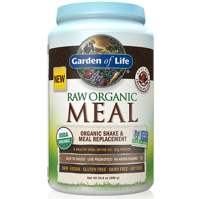 RAW Meal - Chocolate Cacao, Organic Shake & Meal Replacement, 986 g (28 Servings), Garden of Life