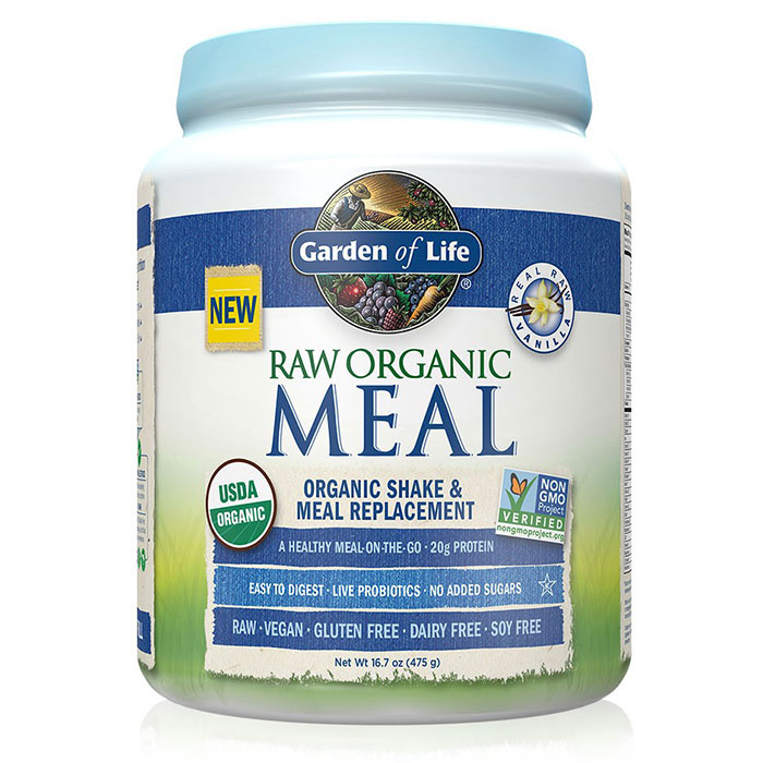 RAW Meal - Vanilla, A Healthy Meal-On-The-Go, 475 g (14 Servings), Garden of Life