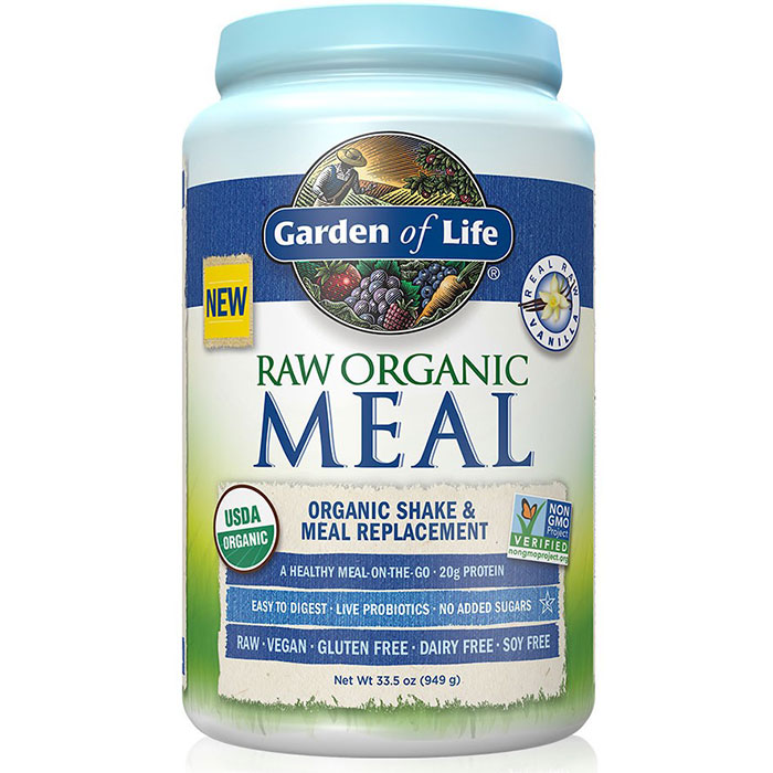 RAW Meal - Vanilla, Organic Shake & Meal Replacement, 949 g (28 Servings), Garden of Life