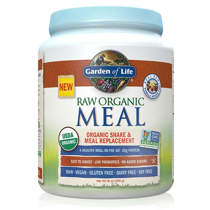 RAW Meal - Vanilla Spiced Chai, A Healthy Meal-On-The-Go, 455 g (14 Servings), Garden of Life
