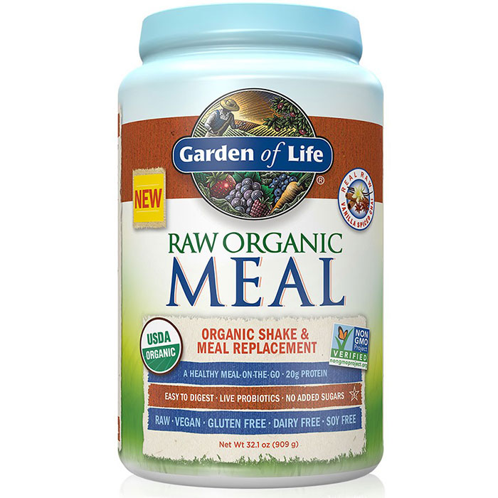 RAW Meal - Vanilla Spiced Chai, Organic Shake & Meal Replacement, 909 g (28 Servings), Garden of Life