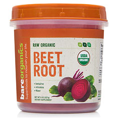 Raw Organic Beet Root Powder, 8 oz, BareOrganics Superfoods