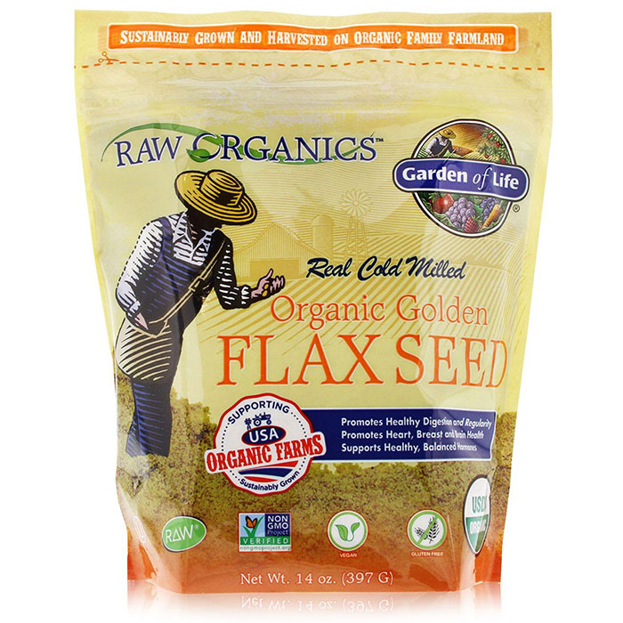 RAW Organics - Organic Golden Flax Seed, 14 oz (397 g), Garden of Life