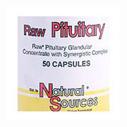 Raw Pituitary, 50 Capsules, Natural Sources