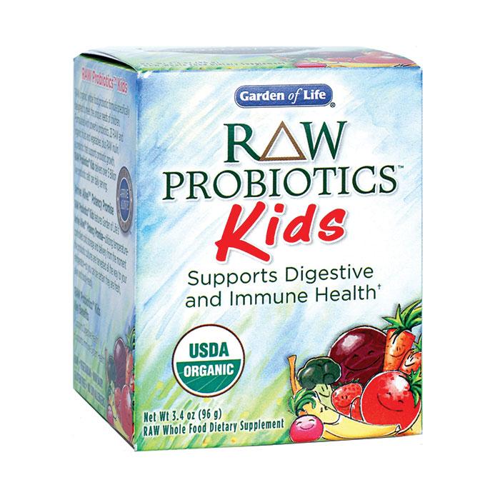 RAW Probiotics Powder for Kids, 3.4 oz x 3 Packs, Garden of Life