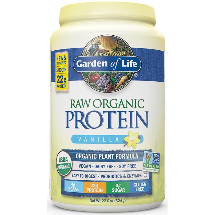Raw Organic Protein Powder - Vanilla, 22 oz (624 g), Garden of Life