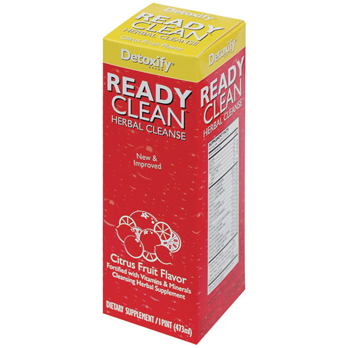 Ready Clean Drink, Orange Flavor, 16 oz, Detoxify Brand