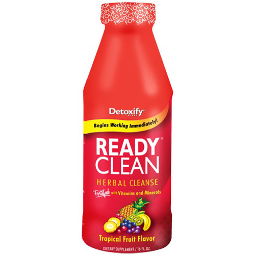 Ready Clean Drink, Tropical Fruit Flavor, 16 oz, Detoxify Brand